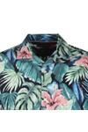 Tommy Hilfiger Mens Green Hawaiian Print SS Shirt