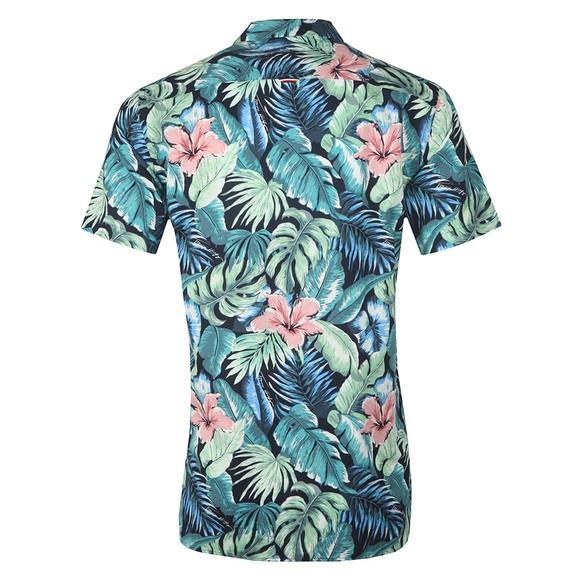 Tommy Hilfiger Mens Green Hawaiian Print SS Shirt main image
