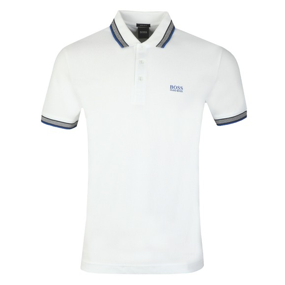 BOSS Mens White Athleisure Paddy Polo Shirt