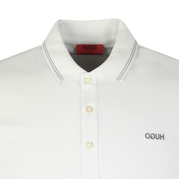 HUGO Mens White Dinoso203 Polo Shirt