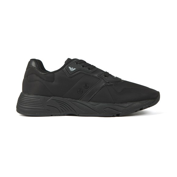 Emporio Armani Mens Black Logo Nylon Runner
