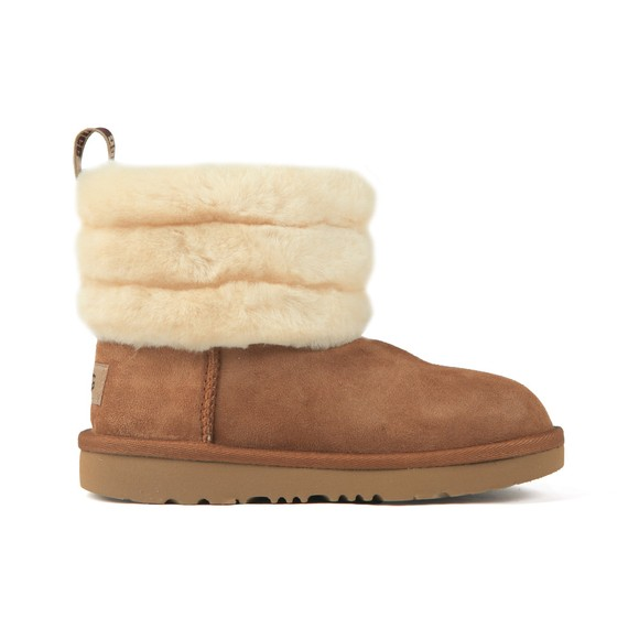 Ugg Girls Brown Fluff Mini Quilted Boot