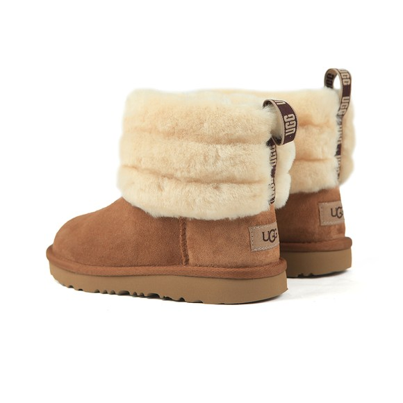 Ugg Girls Brown Fluff Mini Quilted Boot main image