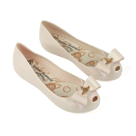 Vivienne Westwood Anglomania X Melissa Womens Off-White Ultragirl 22 Bow Orb Shoe main image