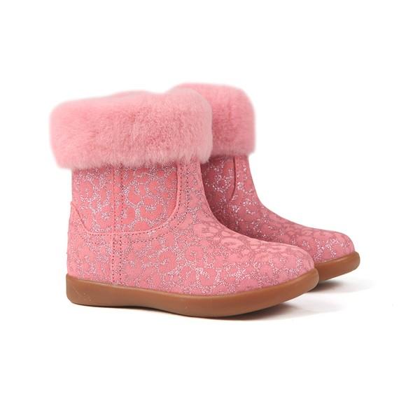 Ugg Girls Pink Jorie II Glitter Leopard Boot