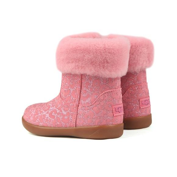 Ugg Girls Pink Jorie II Glitter Leopard Boot main image