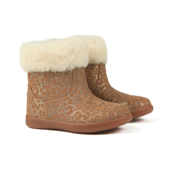 Ugg Girls Brown Jorie II Glitter Leopard Boot