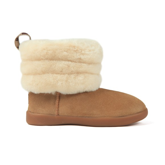 Ugg Girls Brown Mini Quilted Fluff Zip Boot