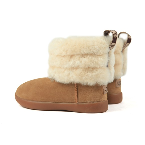 Ugg Girls Brown Mini Quilted Fluff Zip Boot main image