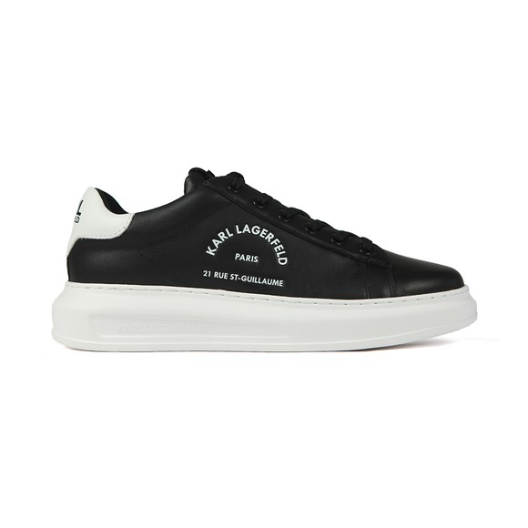 Karl Lagerfeld Mens Black Kapri Maison Karl Lace Trainer