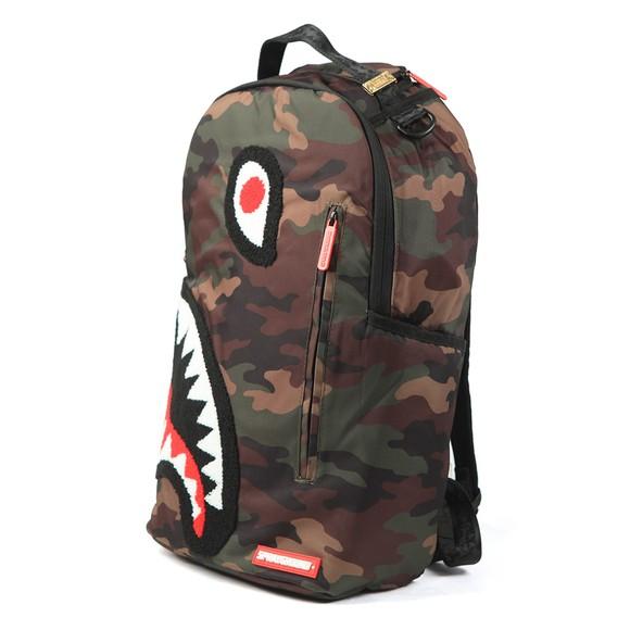 Sprayground Mens Green Torpedo Shark Camo Bag