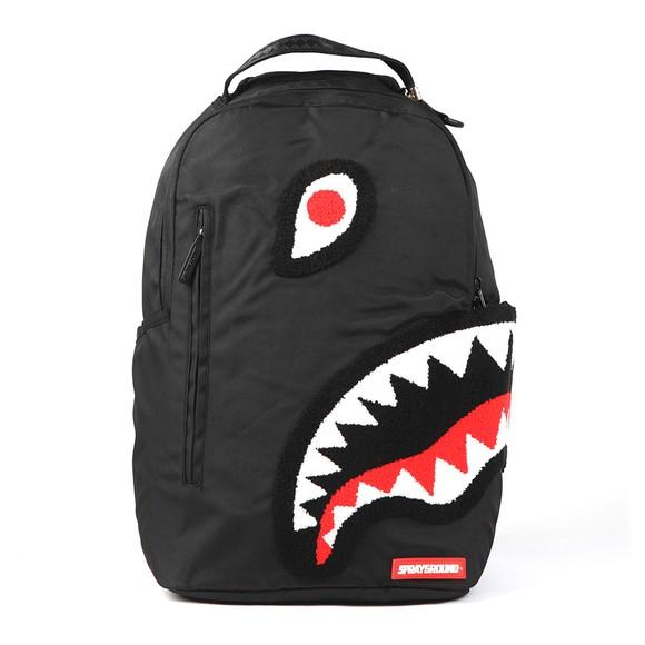 Sprayground Mens Black Torpedo Shark Camo Bag