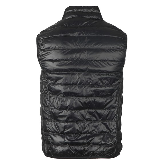 EA7 Emporio Armani Mens Black Small Logo Down Gilet main image