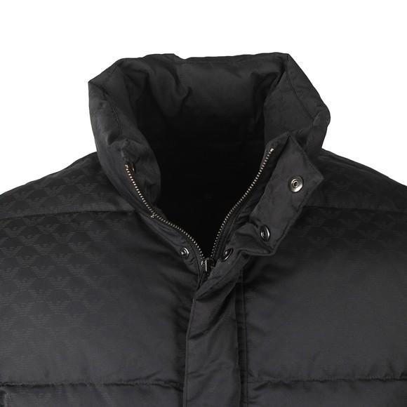 Emporio Armani Mens Black Allover Logo Padded Down Jacket