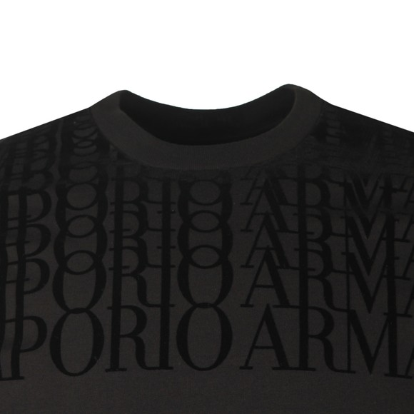Emporio Armani Mens Black Repeated Logo T-Shirt main image
