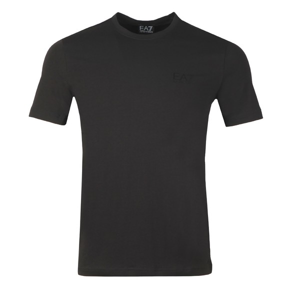 EA7 Emporio Armani Mens Black Back Tape T-Shirt