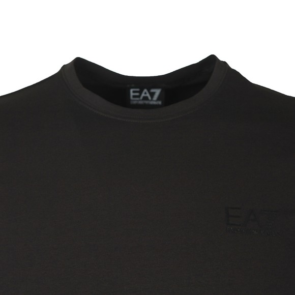 EA7 Emporio Armani Mens Black Back Tape T-Shirt