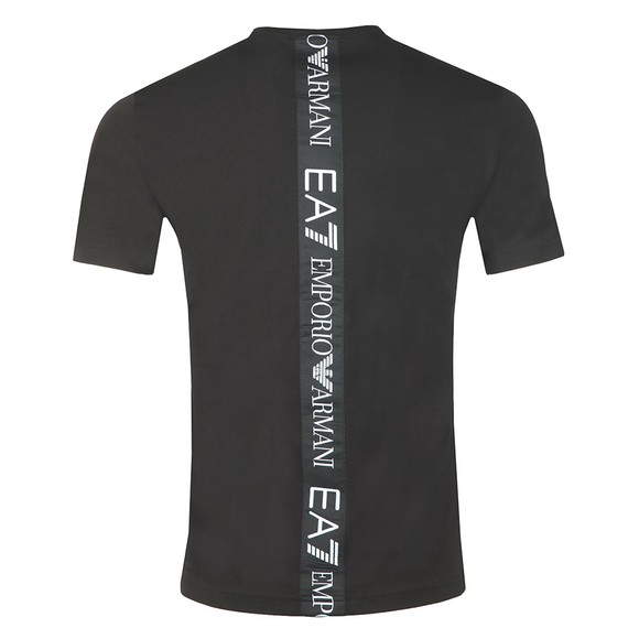 EA7 Emporio Armani Mens Black Back Tape T-Shirt main image