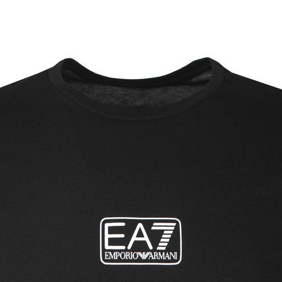 EA7 Emporio Armani Mens Black Small Logo T-Shirt