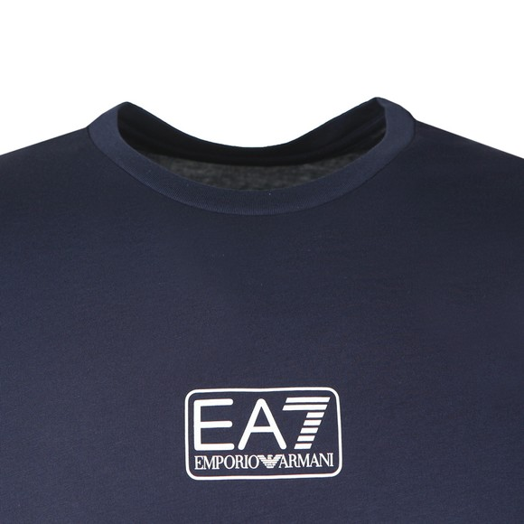 EA7 Emporio Armani Mens Blue Small Logo T-Shirt main image