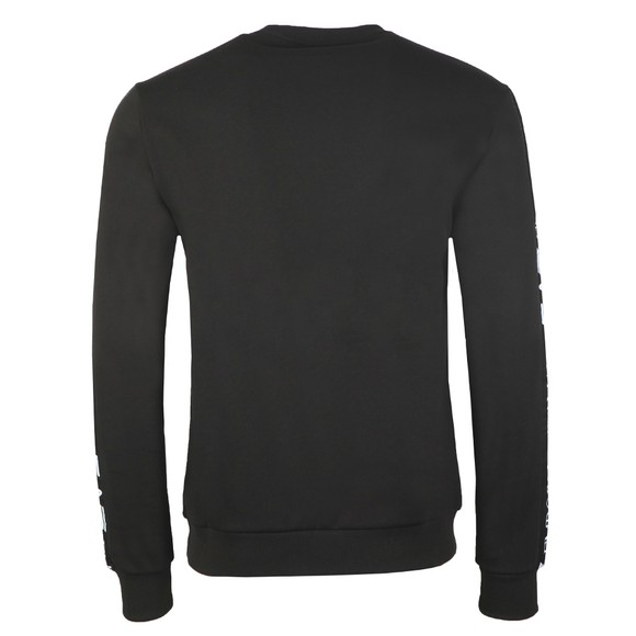 EA7 Emporio Armani Mens Black Taped Arm Sweatshirt main image