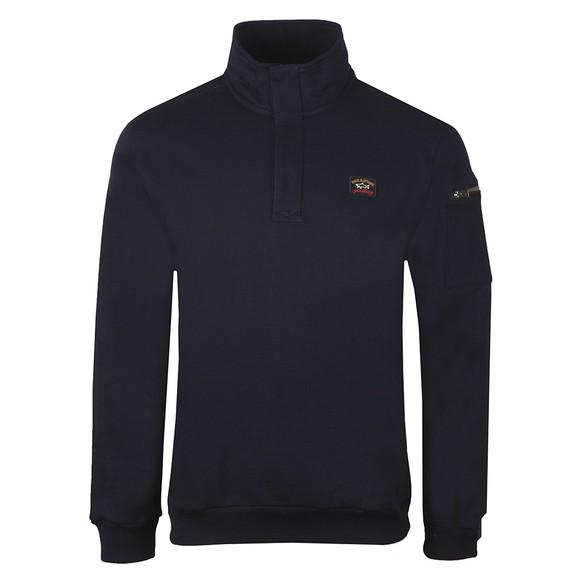 Paul & Shark Mens Blue Half Zip Sweatshirt