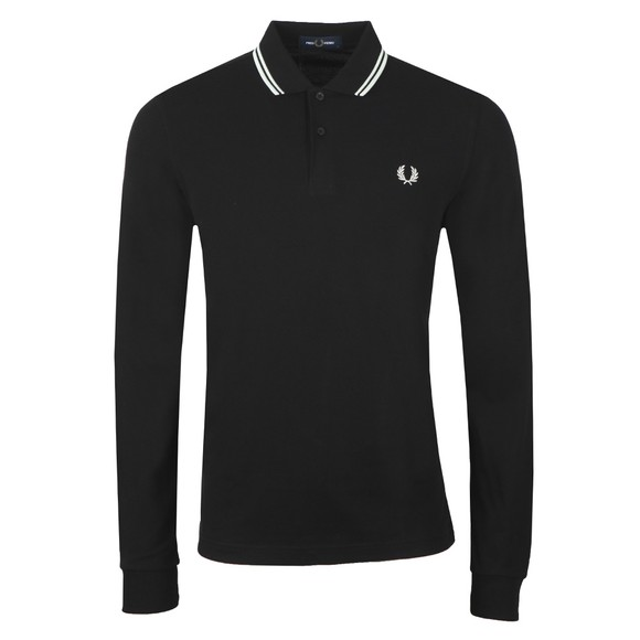 Fred Perry Mens Black L/S Tipped Polo Shirt