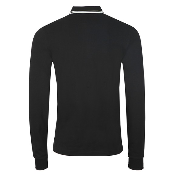 Fred Perry Mens Black L/S Tipped Polo Shirt main image