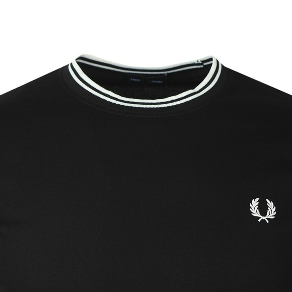 Fred Perry Mens Black LS Twin Tipped T-Shirt