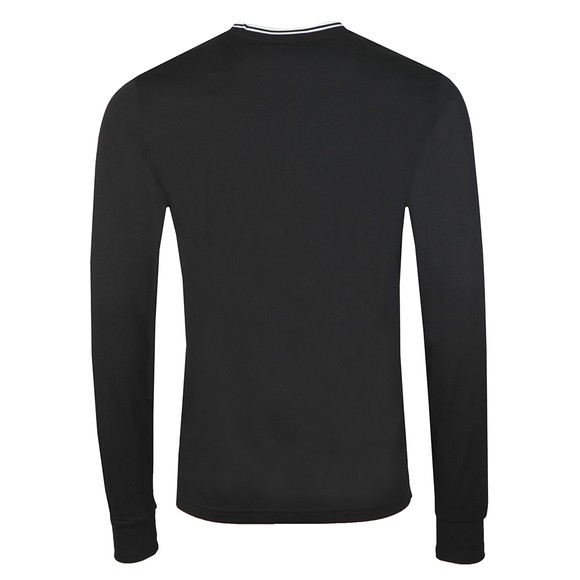 Fred Perry Mens Black LS Twin Tipped T-Shirt main image