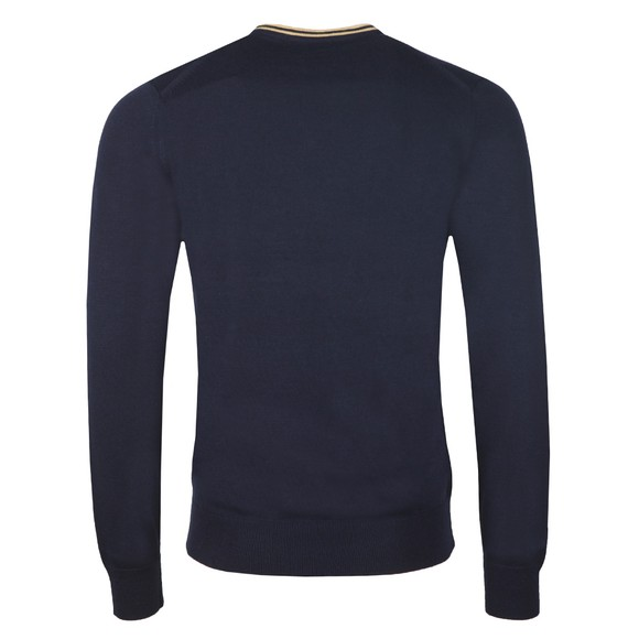 Fred Perry Mens Blue Classic V Neck Jumper main image
