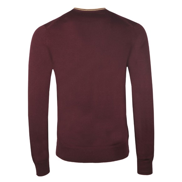 Fred Perry Mens Purple Classic V Neck Jumper main image
