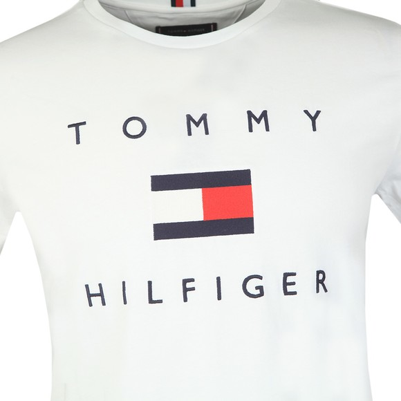Tommy Hilfiger Mens White Flag T-Shirt main image