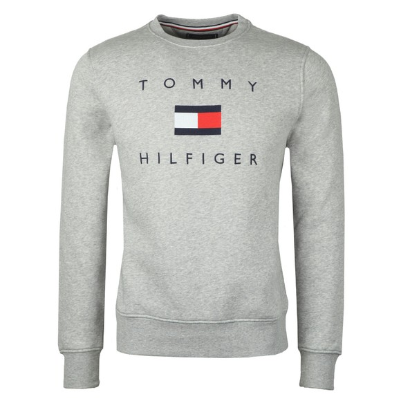 Tommy Hilfiger Mens Grey Tommy Flag Sweatshirt