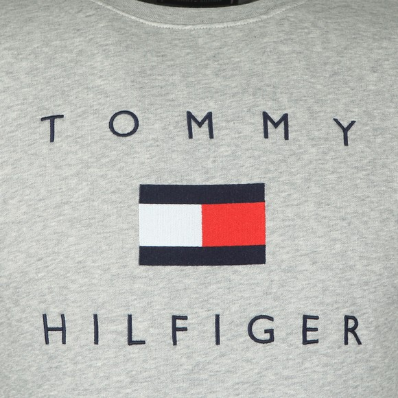 Tommy Hilfiger Mens Grey Tommy Flag Sweatshirt