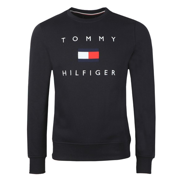 Tommy Hilfiger Mens Blue Tommy Flag Sweatshirt