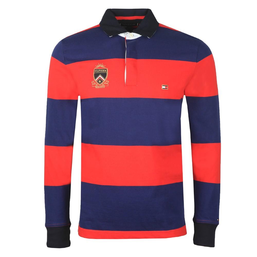 L/S Varsity Block Strip Rugby Shirt main image
