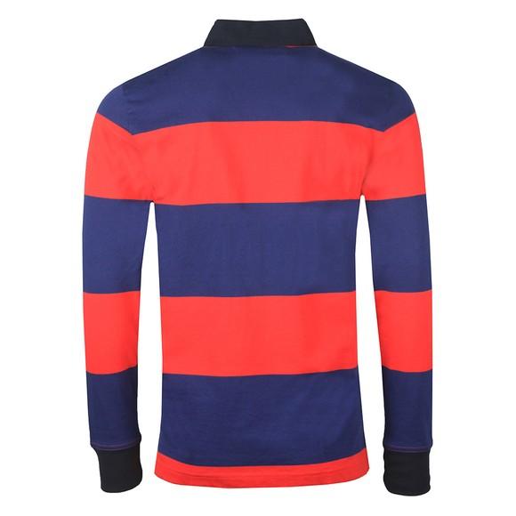 Tommy Hilfiger Mens Red L/S Varsity Block Strip Rugby Shirt main image
