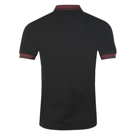 Fred Perry Mens Black Contrast Rib Polo Shirt main image