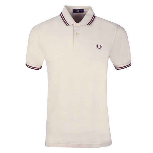 Fred Perry Mens White Twin Tipped Polo Shirt