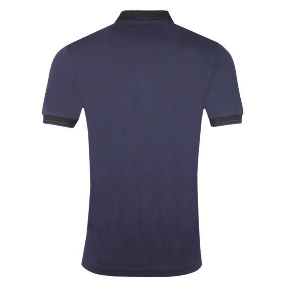 Fred Perry Mens Blue Contrast Rib Polo Shirt main image