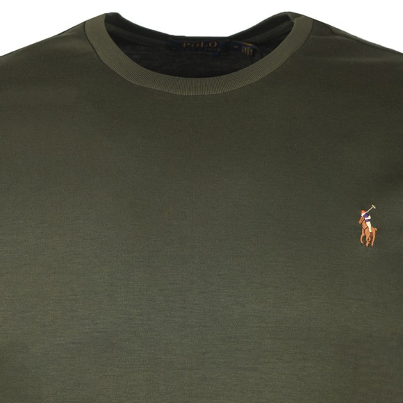 Polo Ralph Lauren Mens Green Custom Slim Fit Pima Cotton T Shirt