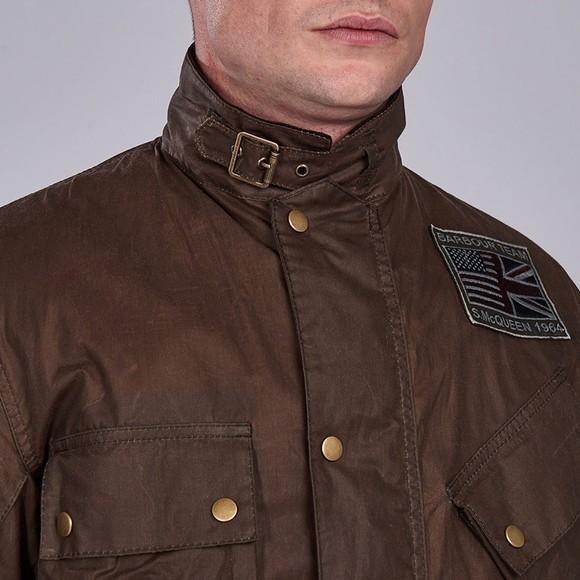 Barbour Int. Steve McQueen Mens Beige Joshua Wax Jacket main image