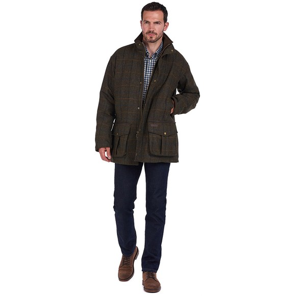 Barbour Countrywear Mens Green Woolsington Jacket main image
