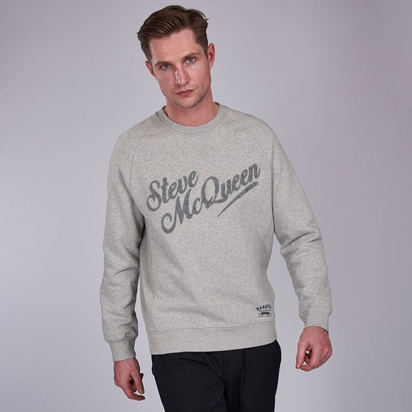 Barbour Int. Steve McQueen Mens Grey Doc Sweatshirt