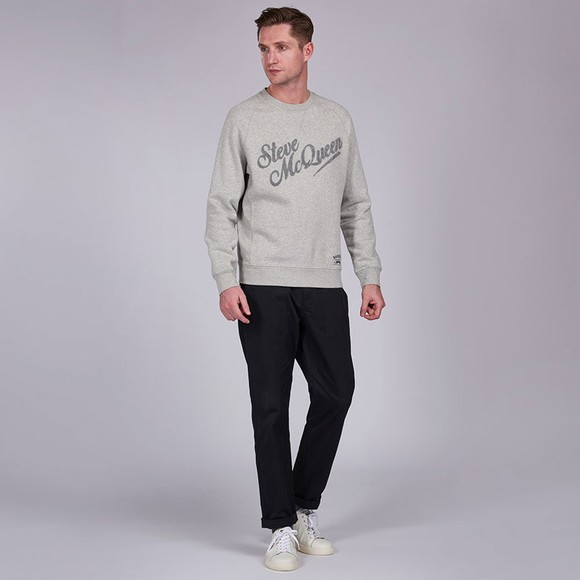 Barbour Int. Steve McQueen Mens Grey Doc Sweatshirt main image