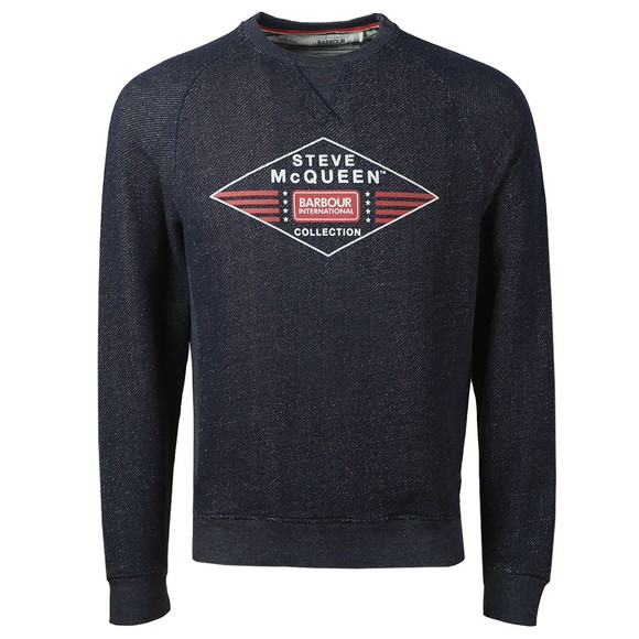 Barbour Int. Steve McQueen Mens Blue Application Sweatshirt