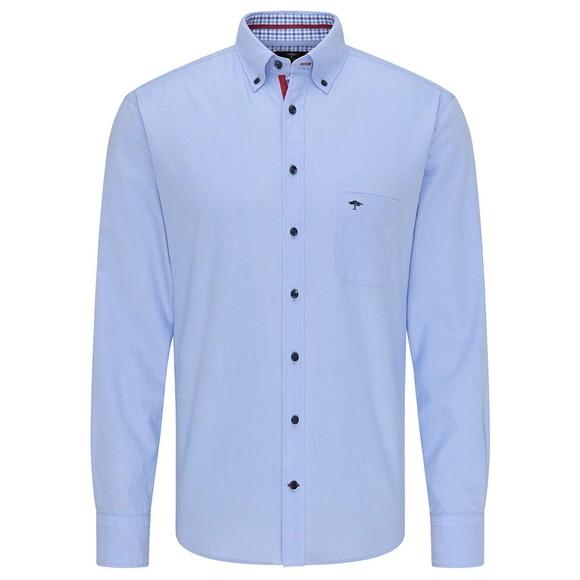 Fynch Hatton Mens Blue Supersoft Oxford Shirt
