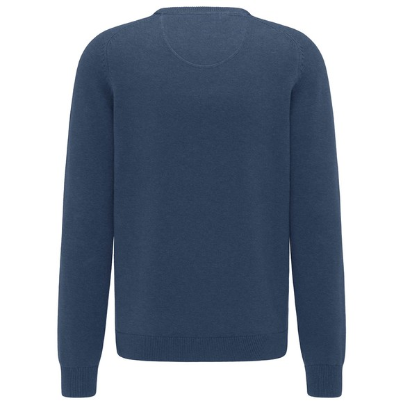 Fynch Hatton Mens Blue Cotton Jumper