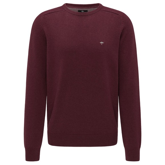 Fynch Hatton Mens Purple Cotton Jumper